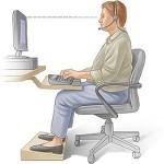 ورزشی برای کاهش خستگی کار با کامپیوتر